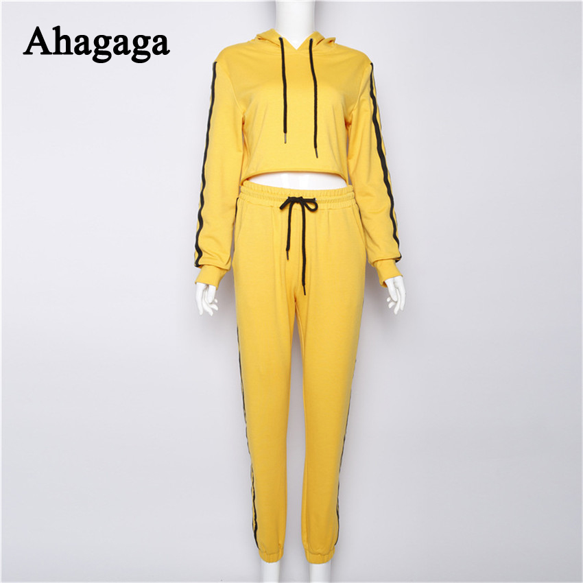 Women's Tracksuits Set, Casual Hooded Sweatsuit Set 33