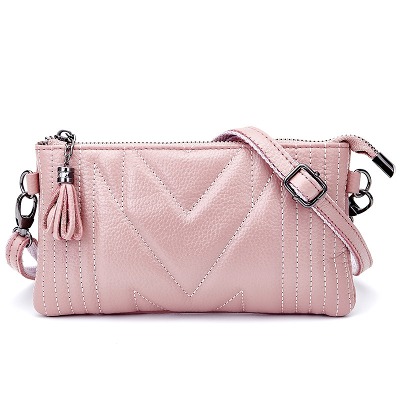 Luxury Genuine Leather Women Clutch Bag Simple Style Evening Bag Fashion Shoulder Envelope For Women Messenger bag<br><br>Aliexpress