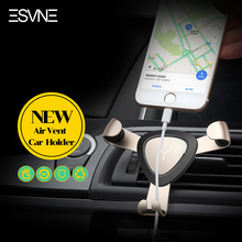 ESVNE Metal Gravity Auto Lock Car Phone Holder iPhone Samsung Mount air Vent Mobile Stand Support cellular - Official Store store