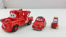 Pixar Cars 2 Red Mater & Luigi & Guido Fire Engine Rescue Squad Metal Diecast Toy Car 1:55 Original Brand New & Free Shipping