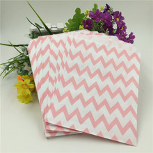 5*7 inch 100pcs Chevron Popcorn Candy Kraft Paper Treat Favor Bag Goodie Gift Bags Wedding Party Decoration Party Supplies(China)