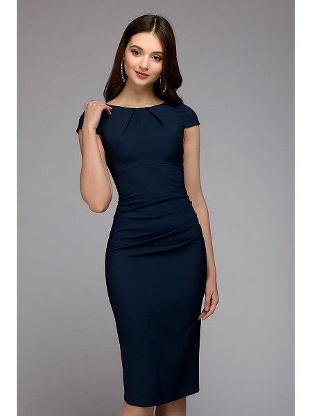Summer 2018 Dress Women Solid Slim dress Short Sleeve Office Business Dress Elegant Sheath Party Vestidos 5