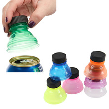 New Design 6 Pcs/Set Colorful Screw Cap Tops Reuse Snap Bottle On Pop Soda Can Drink Lid Caps For Home Supplies