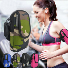 Sports Mobile Phone holder Armband Cases on Hand Function for Iphone Carrying Case Headphone Hole Profession Gym Running Armband