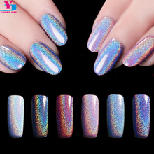 6 Box Rainbow Pigment Fine Glitter Powder Chrome Nail Polish Acrylic Laser Holo Dust Brillantini Nail Art Decorations Makeup Set