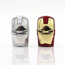 New Avengers Gold & Red Iron Man LED Flash Genuine 8GB/16GB/32GB USB Flash 2.0 Memory Drive 64gb Stick Pen/Thumb