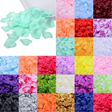100pcs Silk Rose Petals Table Confetti Artificial Flower Baby Shower Crafts Wedding Party Events Decoration Supplies Marriage