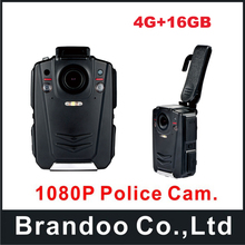 Newest Waterproof IP65 16GB Body Worn Camera with IR night vision+ 4G function for law enforcement officers use