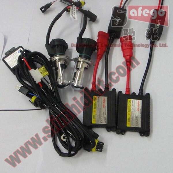 Hot!! 1 set Slim Hid Kit h4 Bi xenon h/l Beam Xenon Light DC 12v 35w Car Lamp H13 9004 9007 H/L Beam Bi Xenon<br><br>Aliexpress
