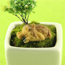 Resin Animals Micro Landscape Home Garden Decoration Miniature Garden Plants Deer Outdoor Courtyard Furniture Bonsai Decorative(China)