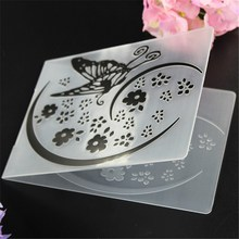 Cake Mold Stencil DIY Flower Butterfly Biscuit Plastic Embossing Folder Scrapbooking Album Card Cutting Dies Template Craft Tool