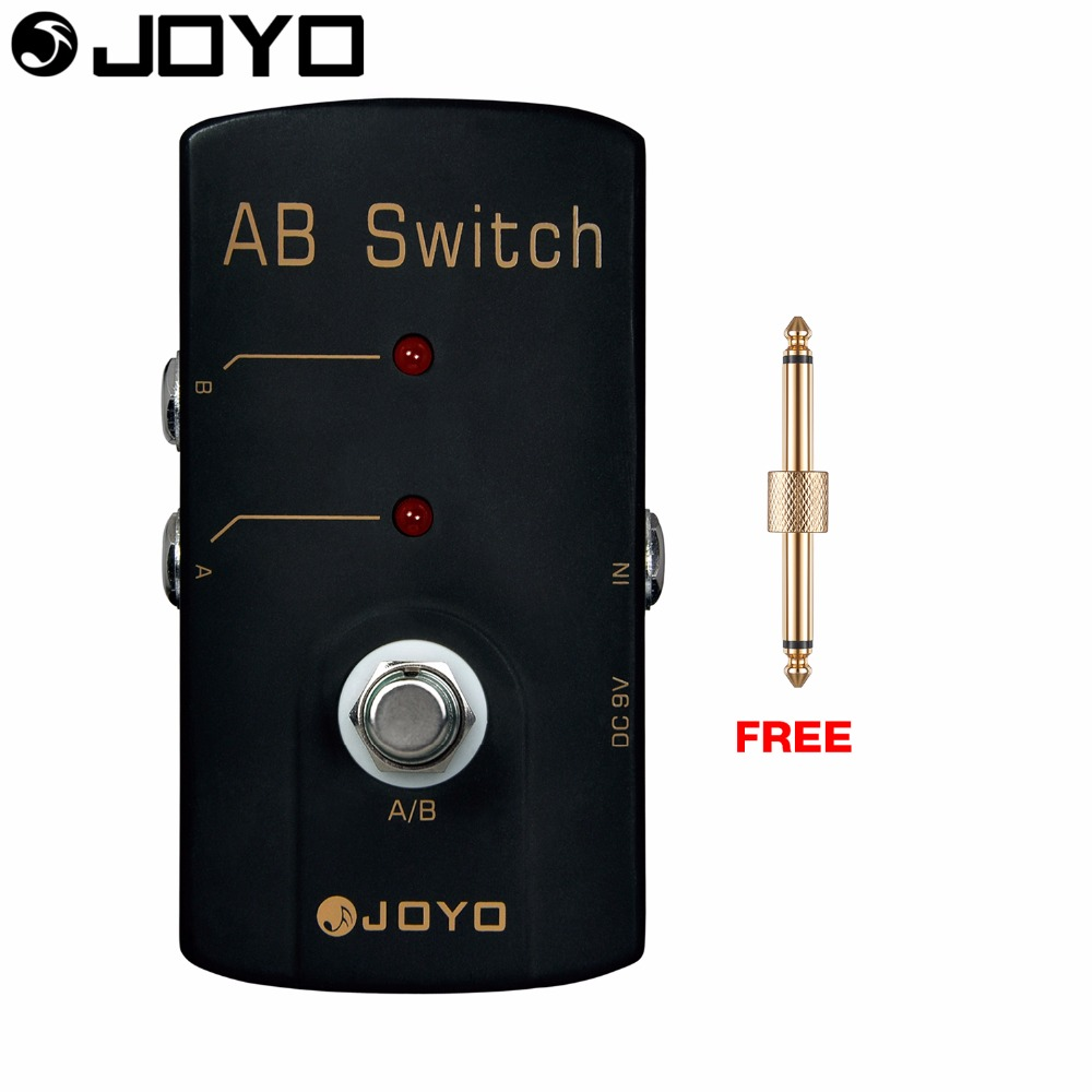 JOYO A/B Switch Electric Guitar Effect Pedal True Bypass Noiseless Switching JF-30 with Free Connector<br>