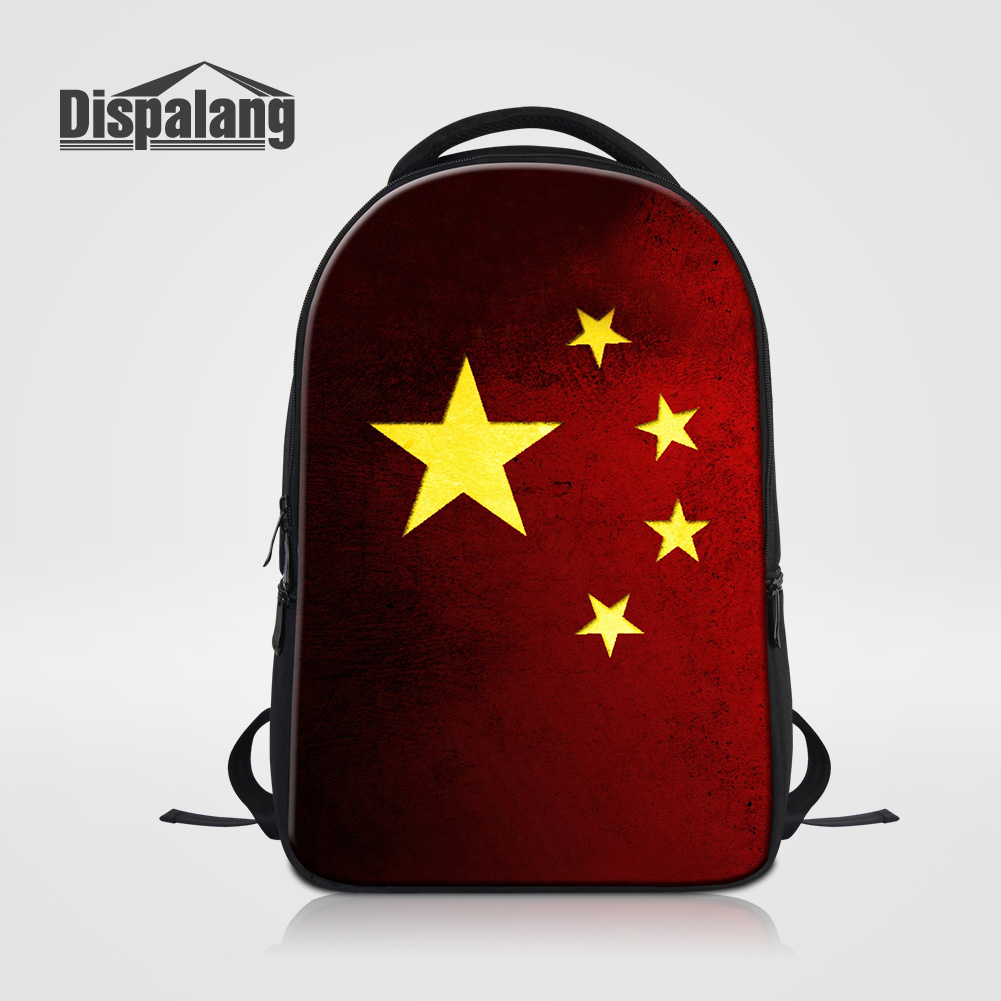 Dispalang Five Stars Design Women Men Fashion Travel Backpack For Laptop Large Capacity 14 Inch Notebook Mochila Schoolbags Pack<br>
