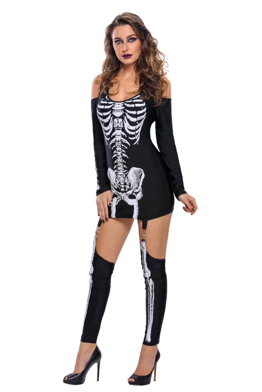 X-rayed-Halloween-Off-shoulder-Skeleton-Dress-Costume-LC89025-2-6