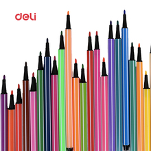 Deli School kids art marker 36 colors affordable color brushes high quality color pens watercolor pen color markers for painting(China)