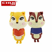 CHYI Cute Animal USB Flash Dirve Squirrel Pen Driver 4GB 8GB 16GB 32GB 64GB Pendrive Yellow Brown Memory Stick U Disk For Gift(China)