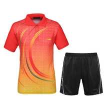 Men Table Tennis Sets 2016 New Sports Series Shirts With Shorts Wicking Game Training Clothing Male Tennis Badminton Suit