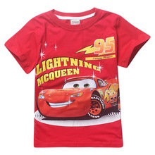 2017 New Summer Boy T-shirt Cotton O-neck ShortSleeve Cartoon Car Kids T shirt Cool Boys Clothes Casual Children Clothing 2ht042