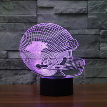 NFL Logo Collection Carolina Panthers Chicago Bears Baltimore Ravens Sport Team 3D Color Changing Light Free drop shipping(China)