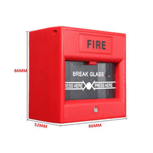 5pcs/lot red glass broken button 2-wire Conventional Manual Call Point fire alarm system
