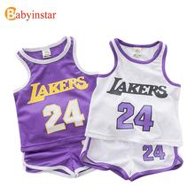 Kids Sport Suits Set 2016 Summer Toddler Boys Girls Clothing Set Letter Pattern Vest+Shorts 2pcs Baby Costumes Children's Sets