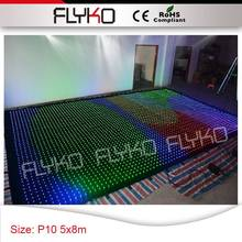 Latest Design!! P10 cloth wedding decoration fashion tops led wall 5x8m good quality led curtain drop