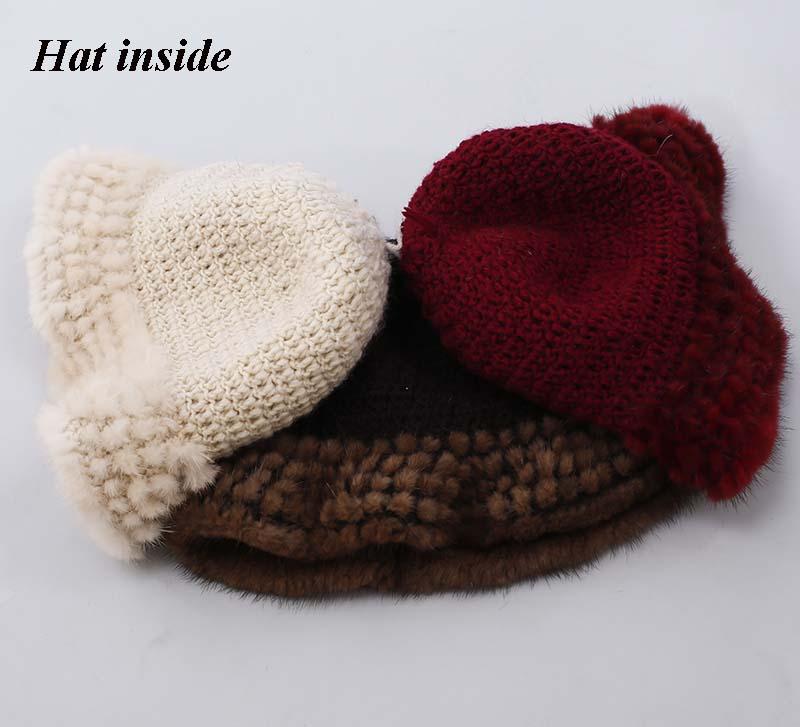 mink fur hat inside