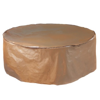 Abba Patio Outdoor/Porch Round Table and Chair Set Cover, Water proof, All Weather Protection, Tan, 84'' Dia.