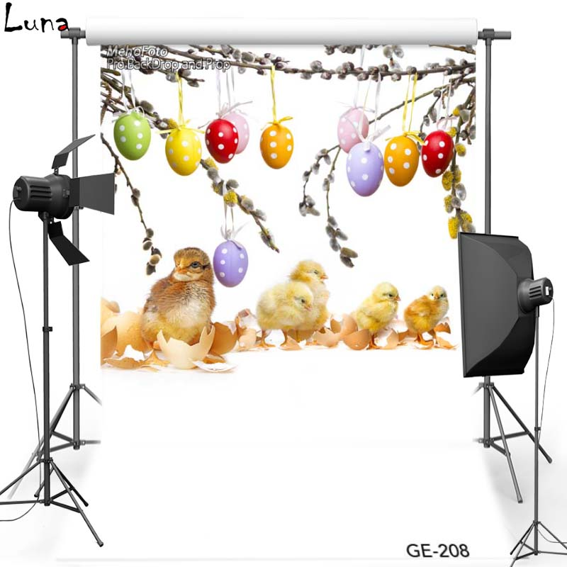 Happy Easter Egg Vinyl Photography Background For Children Chicken Oxford Backdrop For photo studio Props 208<br><br>Aliexpress