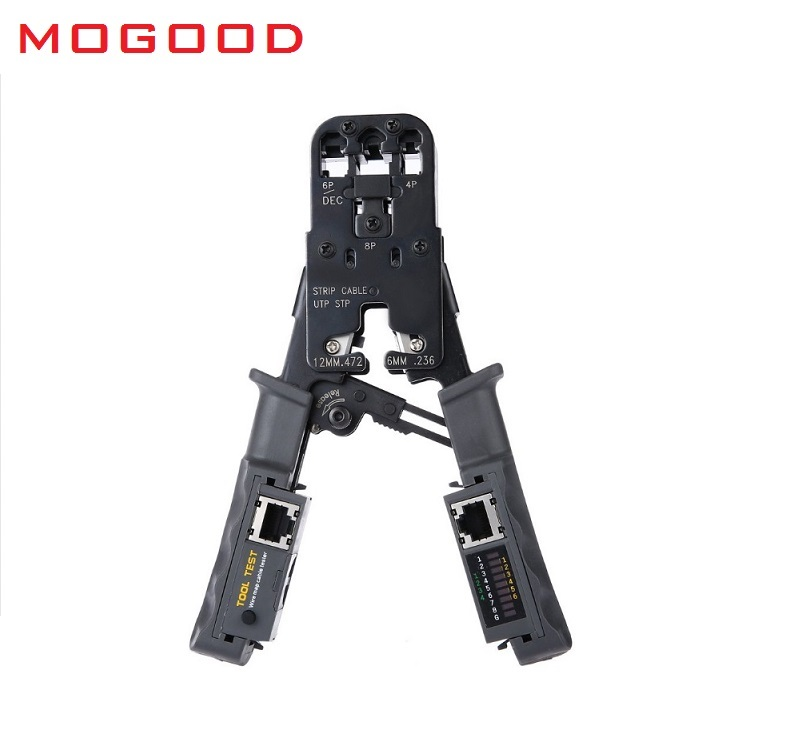MoGood Multi-Wired Cable-in Networking Tools 2 in 1 Network Cable Crimping Pliers Test Crimping RJ45/RJ11/RJ9 for 4P/6P/8P<br>