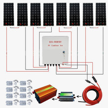 800Watt System Kit 100W 12V Mono Solar Panel Combiner Box 45A Controller for RV Solar Generators(China)
