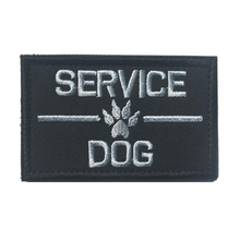 SERVICE DOG Patch ASK TO PET Badge 3D embroidered Badge Pet Fans Awesome Patch for Armband Backpack Motorcycle Jacket Hat Cloth(China)