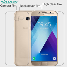 Whole Unit a7 2017 Screen Protector + Back Protective Film For Samsung galaxy A7 2017 a720f Cover PET Material(China)