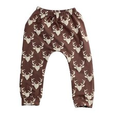 New 2017 Toddler Kids Baby Boys Girls Deer Pattern Bottom Leggings Harem Pants Trousers For Children