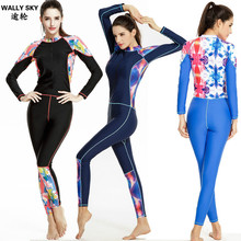 Woman Dive Skin jumpsuit one-piece Lycra Wet suit Anti jellyfish Quick Dry wet suit for Swimming diving Woman rash guard UPF50