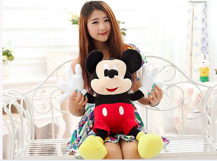 Valentines Gift ,about 60 cm Mickey plush toy cute doll soft throw pillow, birthday gift b4320(China)