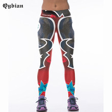Qybian 2017 New Women Leggings Dallas Cowboys Mid Waist Activity Pants Workout Fitness womens Leggings Fashion Bodybuilding(China)