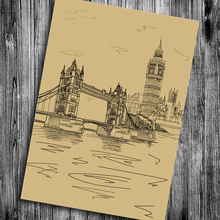 Hot sale the london bridge Vintage poster Classic design character retro posters wall stickers pub cafe bar bedroom decoraiton(China)
