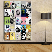 xdr91 Graffiti Art Canvas Painting Banksy The Collections Art Prints Poster Modern Oil Painting Pictures Unframed(China)