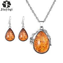 Fashion Luxury Silver Color Necklaces & Pendants Earrings Set African Brand Jewelry For Women High Quality Party Gifts New 2017(China)