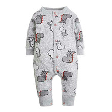 2017 New Fashion Newborn Baby Ropmer Cartoon Car Long Sleeve Baby Boy Girl Clothes 100% Cotton Sleepwear Baby Rompers Free ship(China)