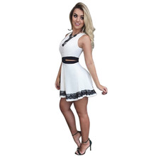 Novelty Sleeveless Beach Summer Women Cute Flare Dresses Mini A Line Party Casual Dress Vestidos(China)