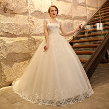ball gown wedding dress with cathedral train with bling high quality  2016 new arrival luxury long tail high quality turkey lace