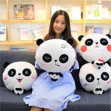 Big eyes cute face panda pillow 4 styles include air conditioning blanket 1PCs plush toys(China)