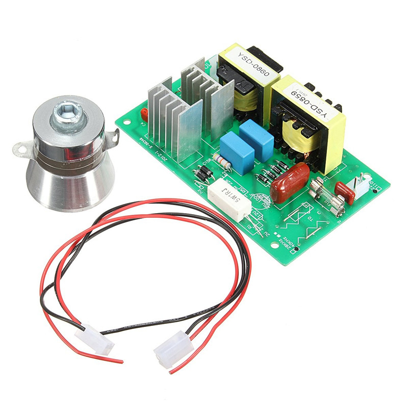 220V 100W Ultrasonic Generator Cleaning Machine Driver Board 50W Transducer Best Price<br>