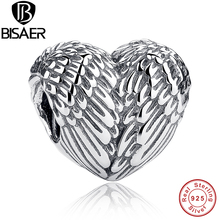 Sculptural 925 Sterling Silver Angelic Feathers Wings Charm Fit Original Pandora Bracelet Silver 925 Jewelry Making HJS033
