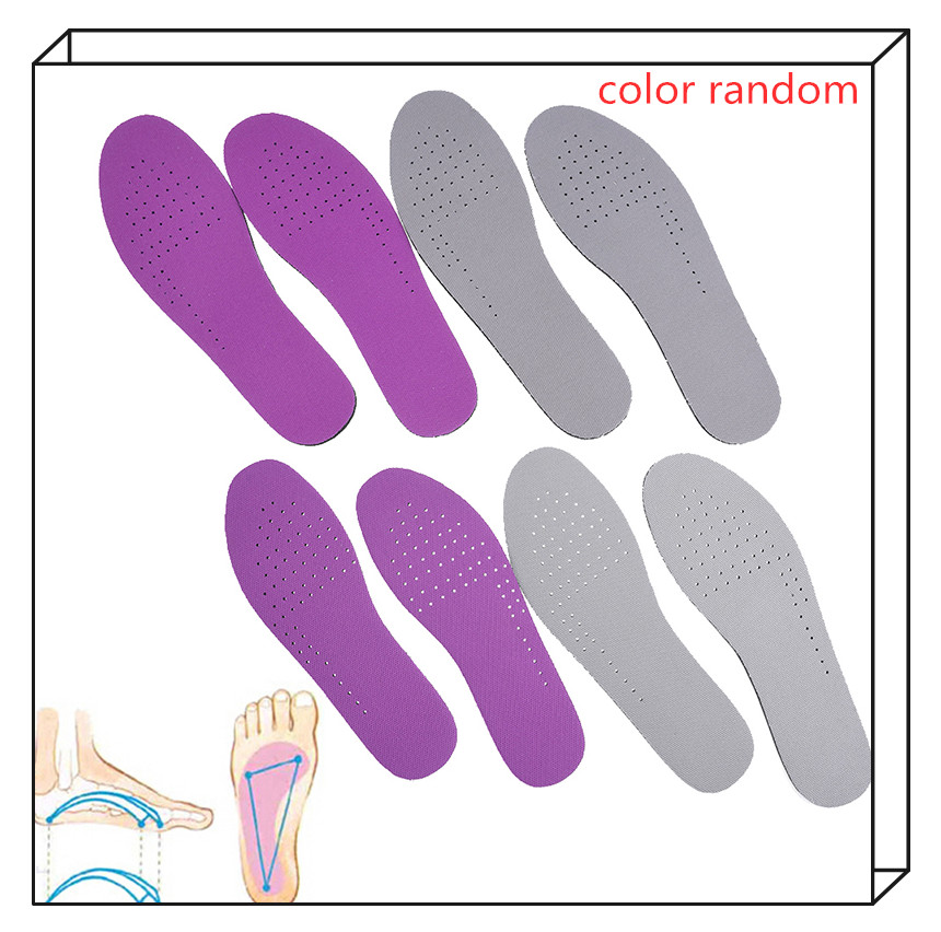 1Pair EVA Heel Insole Foot Massage Multi Size Shock Absorbing Insoles For Men And Women Color Random