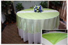 210cm Round NO.45 Green Color Organza Table Overlay/Table Cover/Tablecloth For Wedding Party Home Hotel Banquet Decorations