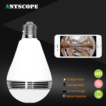 Buy Antscope 1080P HD Bulb Light WIFI Camera Mini Lamp Wireless IP Camera 360 Degree Panoramic FishEye Lens CCTV Home Security Cam for $37.99 in AliExpress store