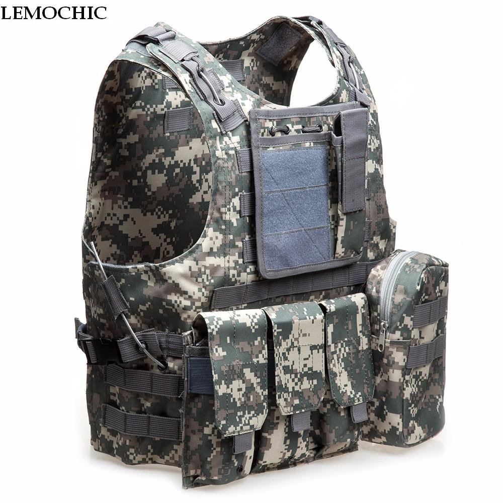 LEMOCHIC outdoor Camouflage amphibious Tactical ves Hunting Airsoft molle Counterterrorism Military Protective Training combat <br><br>Aliexpress